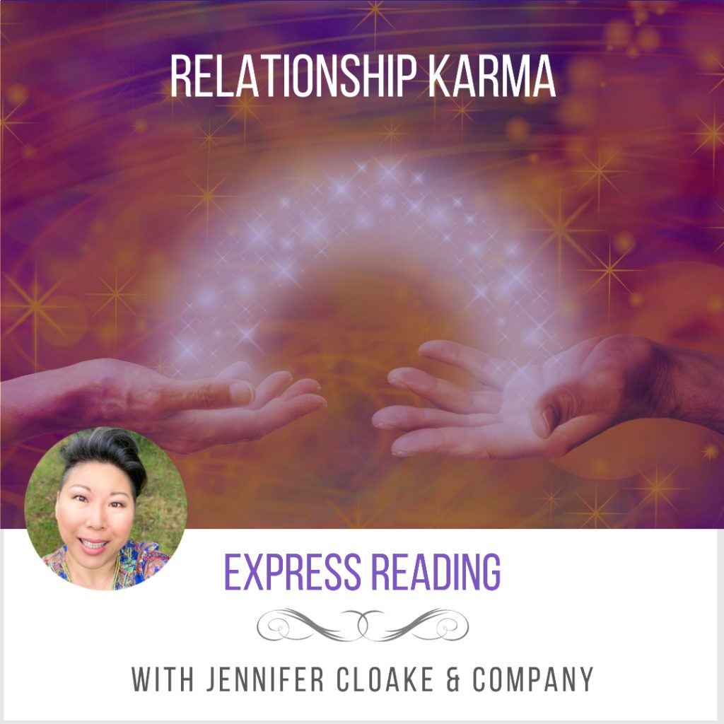 Jennifer Cloake Center Of Oneness psychic reading relationship karma