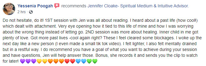 Center of Oneness Jennifer Cloake Testimonial