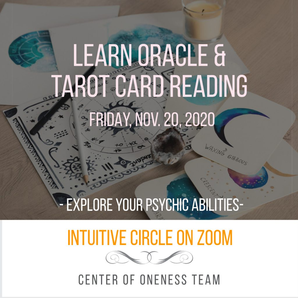 learning intuition psychic abilities tarot oracle card reading