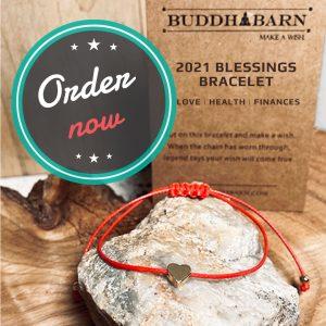 Buddha barn red string Center Of Oneness 2021 blessings bracelet